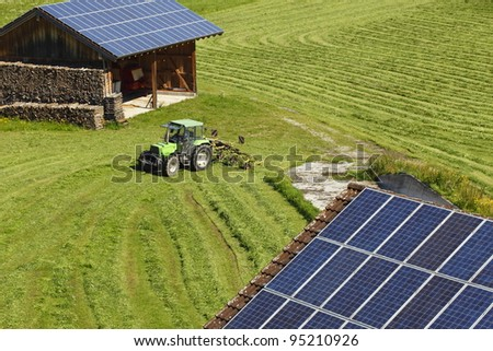 different photovoltaics - stock photo