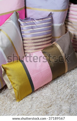 Different pillows - stock photo