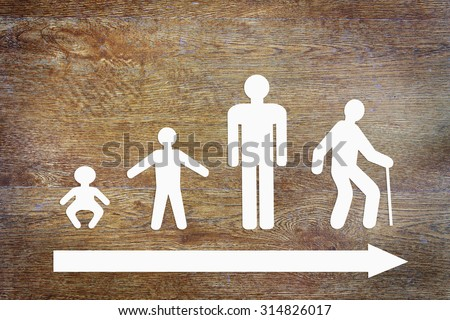 Different stages of human life. Abstract conceptual image - stock photo