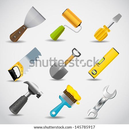 Different tools icon  illustration set1 - stock photo