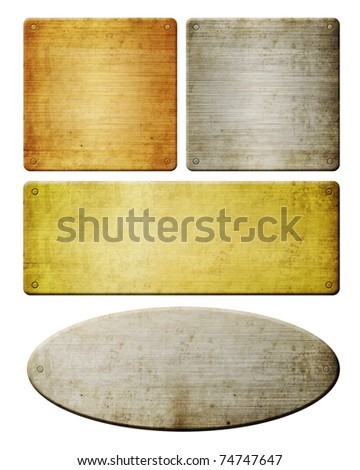 different type of metal frames - stock photo