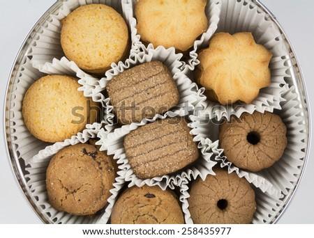 Different varieties of cookies - stock photo