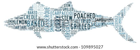 Stock images similar to id 117286051 sea food vintage fish for Different ways to cook fish
