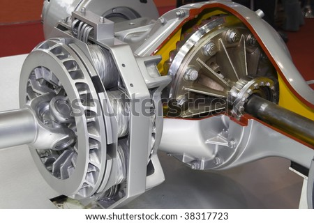 Differential of modern truck  interior view - stock photo