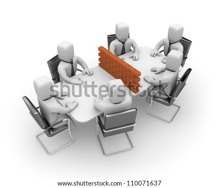 Difficult negotiations - stock photo