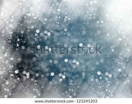 diffuse background, winter colors, bokeh effect. - stock photo