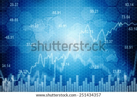 Digital Abstract Business Graph Background - stock photo