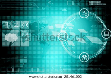 Digital Abstrct business background - stock photo