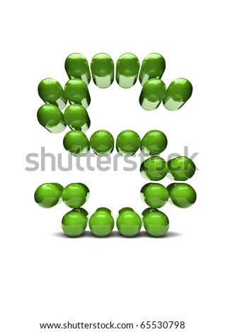 Digital alphabet - stock photo