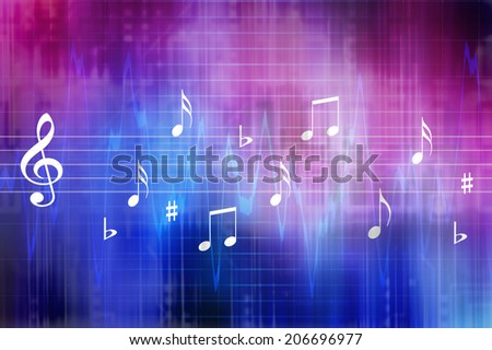 digital and electronic music concept illustration  - stock photo