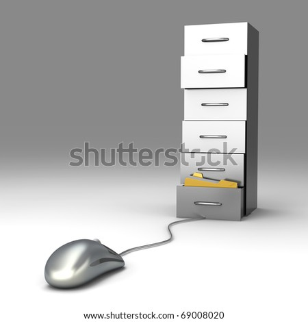 Digital Archive - stock photo