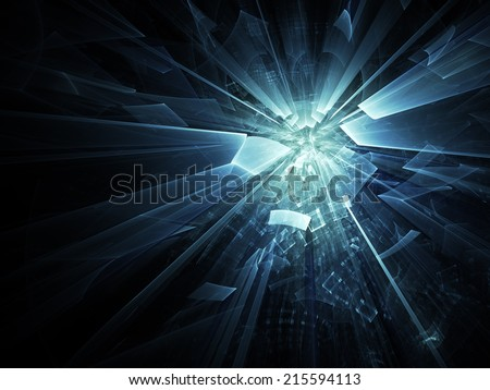 Digital art abstract composition suitable for background - stock photo