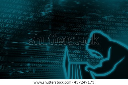 Digital background concept of Internet Security, system hacked - stock photo