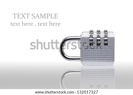 Digital combination lock on white background (with clipping path - stock photo