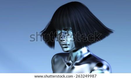 Digital 3D Illustration of a Manikin - stock photo