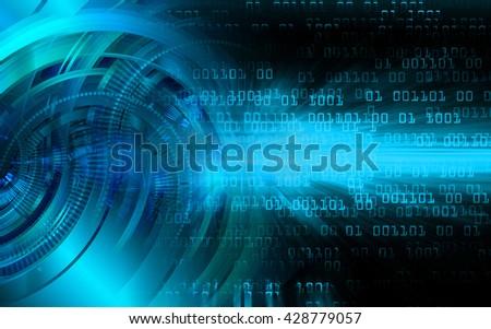 digital data background,blue abstract light hi tech pixel internet technology, Cyber security concept, Cyber digital, Cyber computer, Cyber background,cyber data, Cyber Technology,eye scan security - stock photo