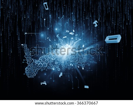 Digital Data series. Backdrop composed of numbers and design elements and suitable for use in the projects on science, education and modern technology - stock photo