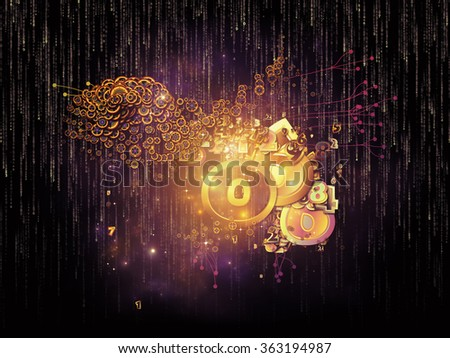 Digital Data series. Design composed of numbers and design elements as a metaphor on the subject of science, education and modern technology - stock photo