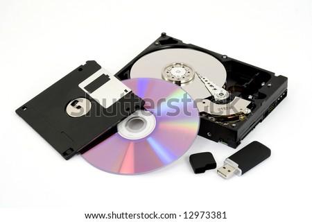 digital data storage studio isolated - stock photo