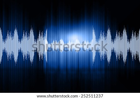 Digital design of sound waves	 - stock photo