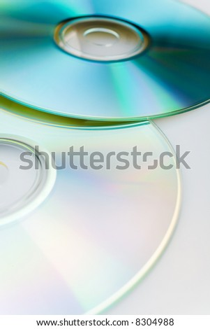 Digital discs background (cd , cdr and dvd) - stock photo