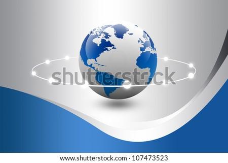 digital earth - stock photo