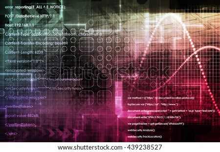 Digital Entertainment and Streaming Broadcast Technology Art - stock photo