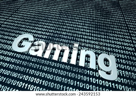 Digital Gaming. 3D rendered Illustration. - stock photo
