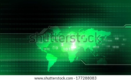 Digital Globe. Binary world  - stock photo