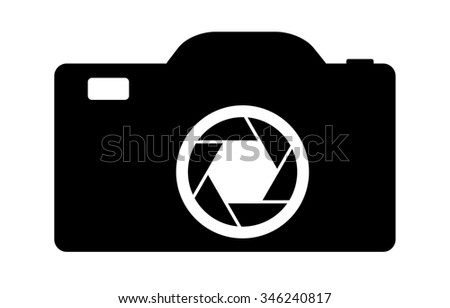 Digital graphic illustration of a generic camera. Nice for use in photography related designs. - stock photo