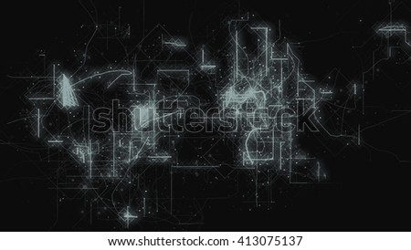 Digital Grid, Big Data Abstract - stock photo