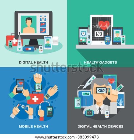 Digital Health Set - stock photo