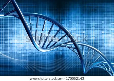 digital illustration DNA - stock photo