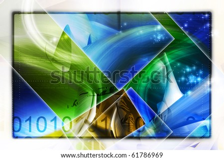 Digital illustration of abstract background - stock photo