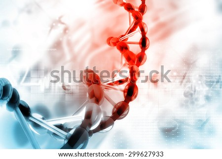 Digital illustration of dna - stock photo
