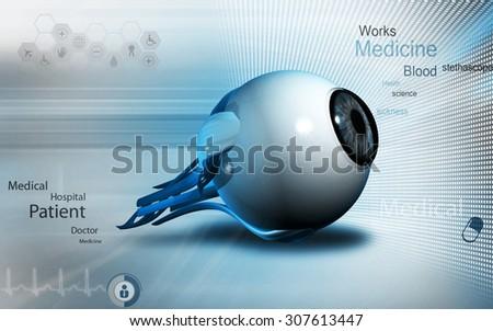 Digital illustration of  eye   in  color  background  - stock photo