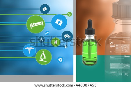 Digital illustration of  medicine  in colour  background. 3D rendering - stock photo