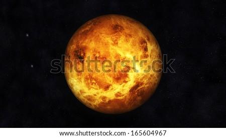 Digital Illustration of Planet Venus - stock photo