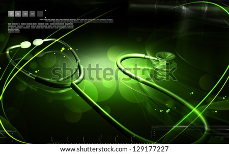 Digital illustration of Stethoscope in colour background - stock photo