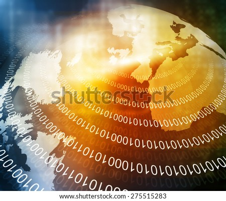 Digital image of binary world  - stock photo