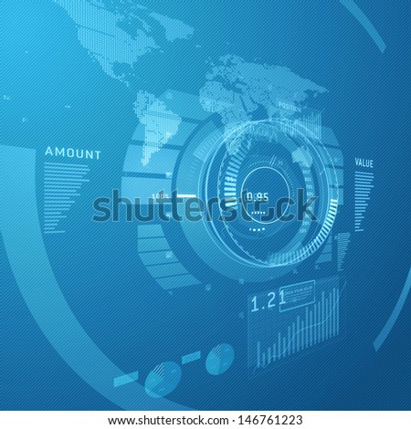 Digital infographic background hi-tech design concept - stock photo