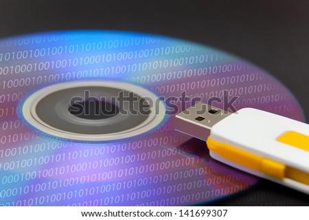 Digital information - stock photo