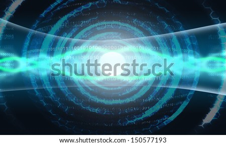 digital lens processor - stock photo