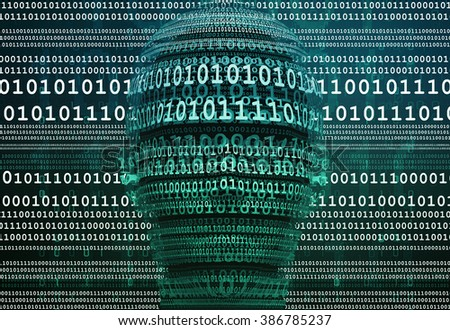 digital man - stock photo