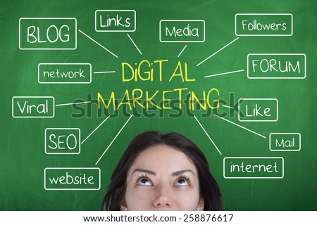Digital Marketing - stock photo
