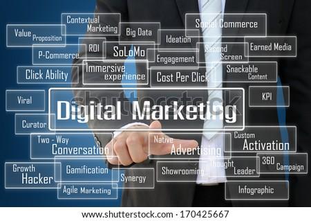 Digital Marketing Concept - stock photo