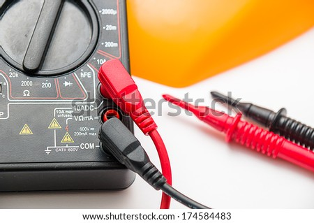 Digital multimeter closeup - stock photo