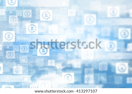 digital network concept - stock photo
