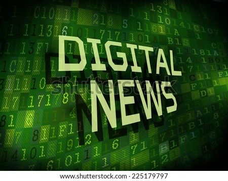 digital news words isolated on internet digital background  - stock photo
