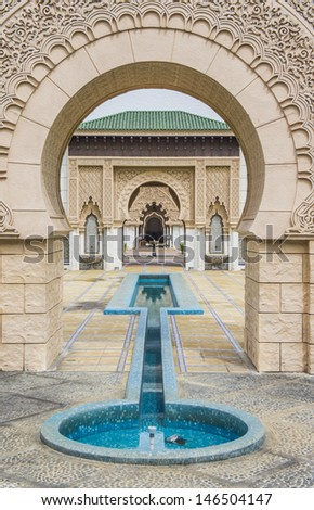 Digital oil paint of beautiful Moroccan Architecture. - stock photo